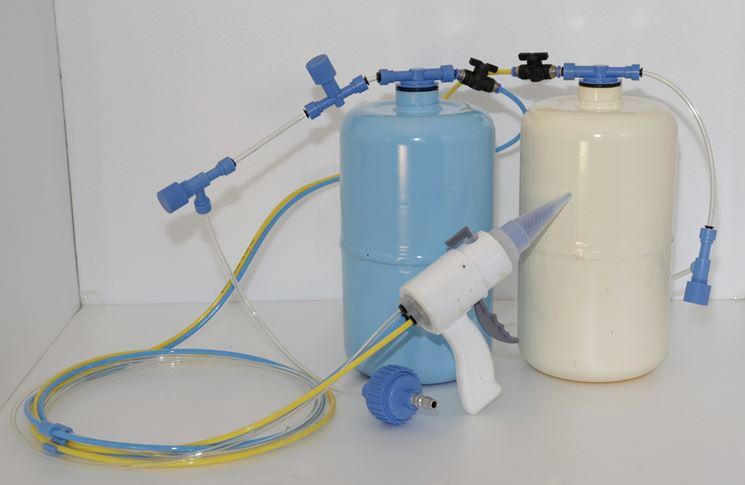 Il dispositivo di applicazione del poliuretano