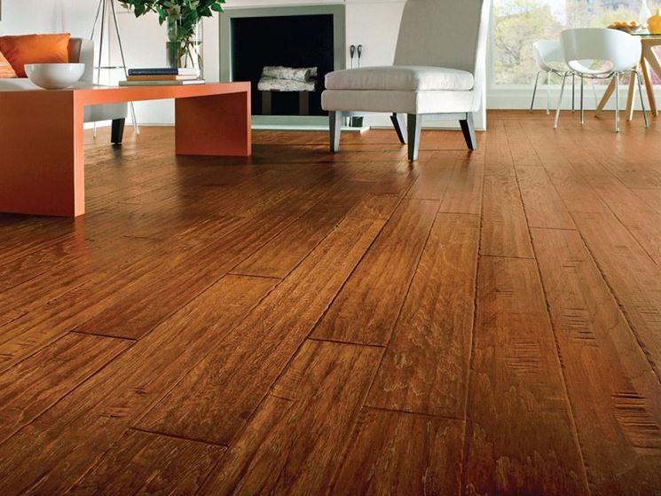 Rivestimento a pavimento in legno