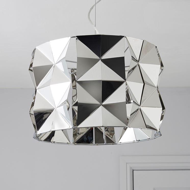 Splendido lampadario cromato