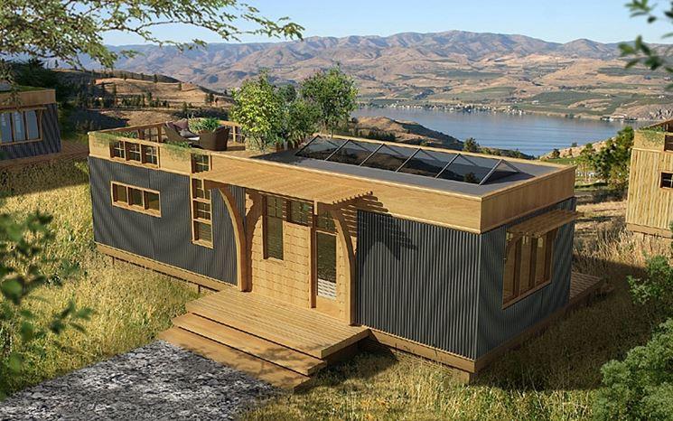 Casa prefabbricata con pannelli di legno