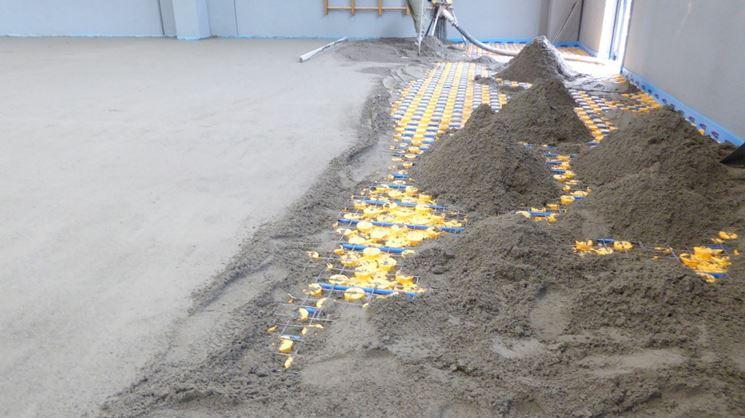 Massetto sabbia e cemento