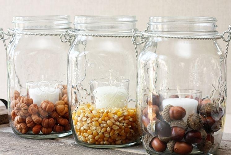 riciclare barattoli di vetro