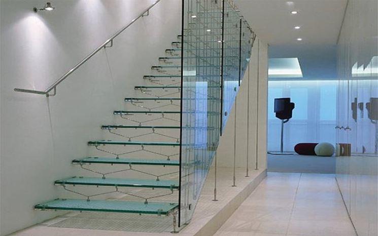 Parapetti in vetro vetro materiale parapetto - Parapetti in vetro per scale ...