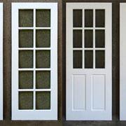 Un modello di porte con vetri