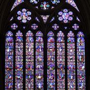 Un esempio di vetrata artistica