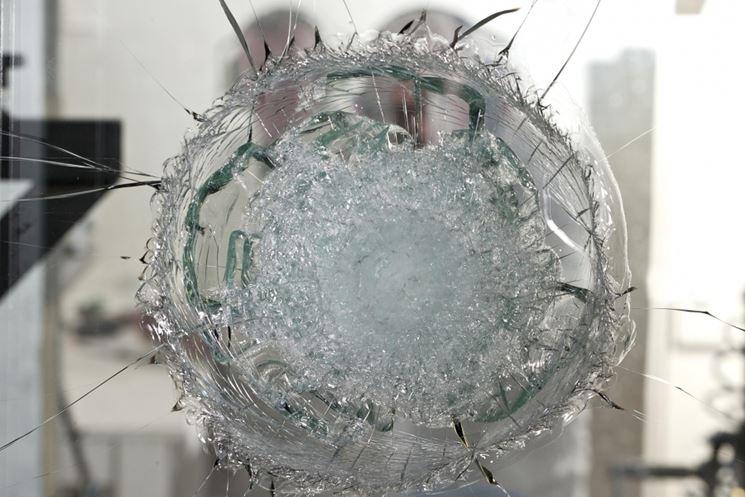 Esempio di resistenza del vetro antisfondamento