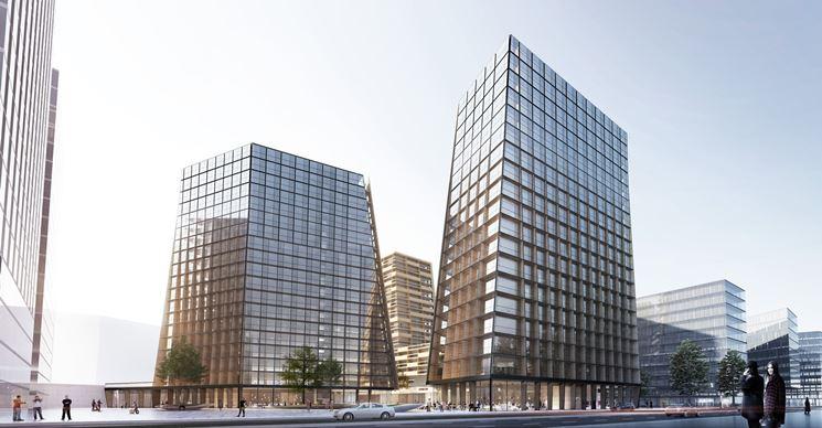 Grattacieli con vetri antisfondamento