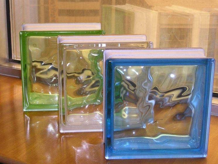 Il vetro mattone è disponibile anche in vari colori