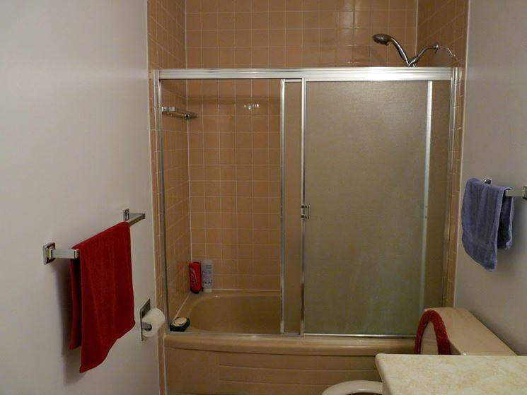 Vetro vasca da bagno con telaio