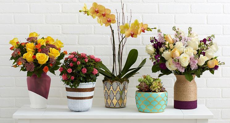 Vasi da fiori decorati