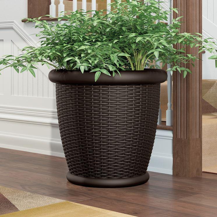 Vasi per fiori vasi da giardino tipi di vasi per fiori for Vasi in rattan
