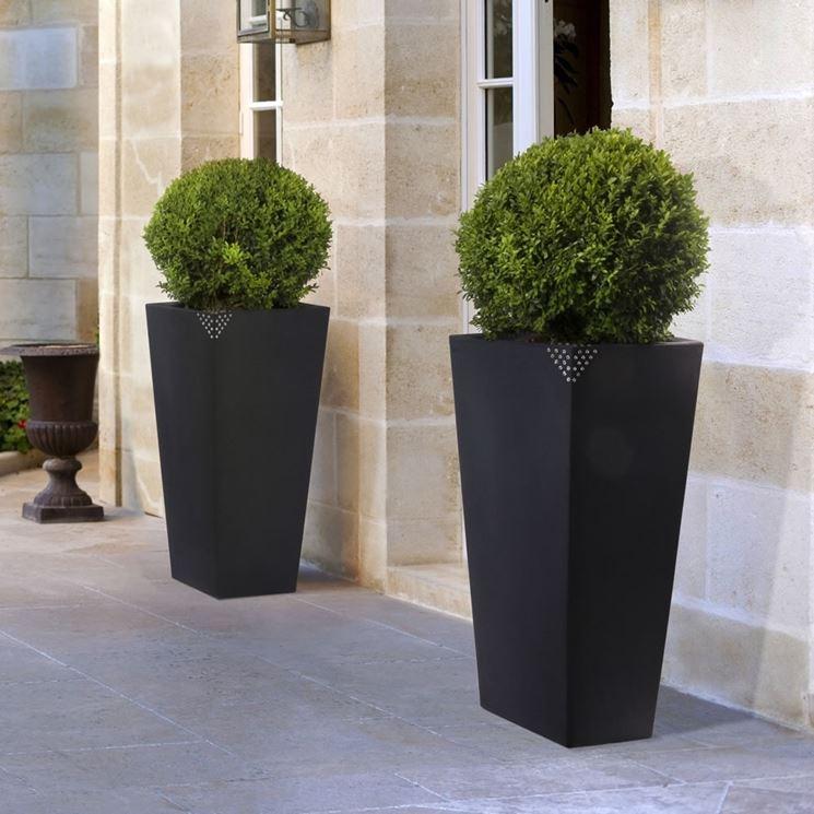 vasi resina da esterno vasi da giardino tipi di vasi