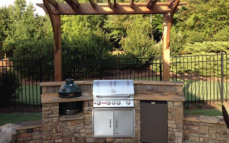 Modello barbecue a gas