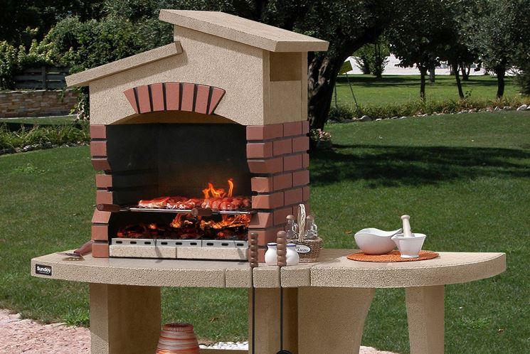 Esempio barbecue in muratura
