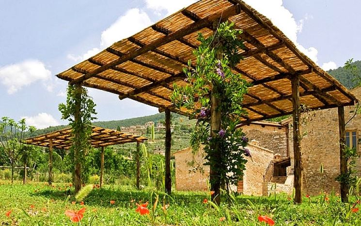 Semplice copertura da giardino