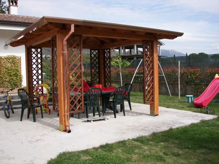gazebo in legno da giardino fai da te ~ ulicam.net = varie forme ... - Gazebo In Legno Da Giardino Usato