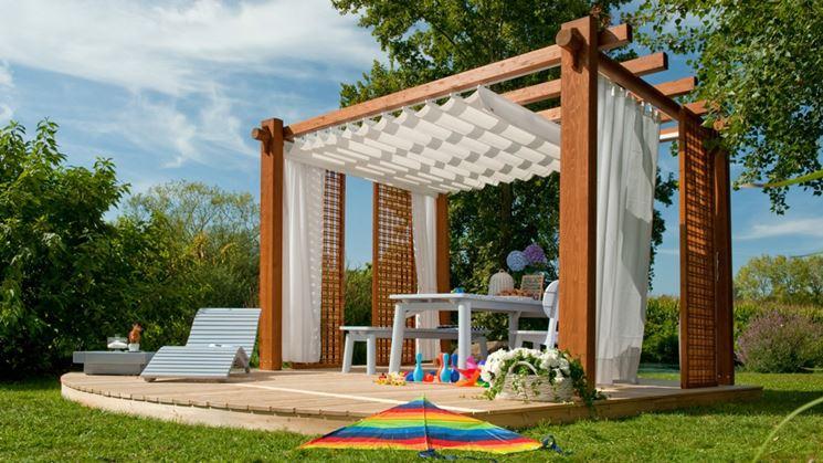 Griglie legno giardino arredo giardino griglie separare for Mobili per terrazzi e giardini