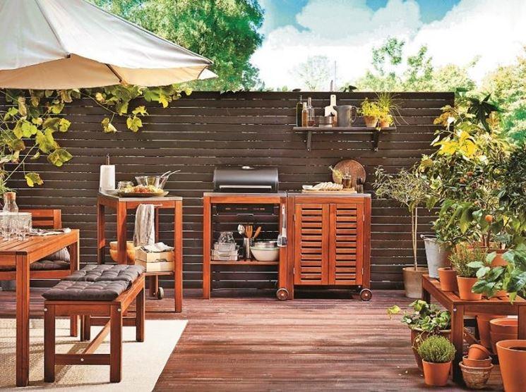 Soluzione per barbecue da esterno
