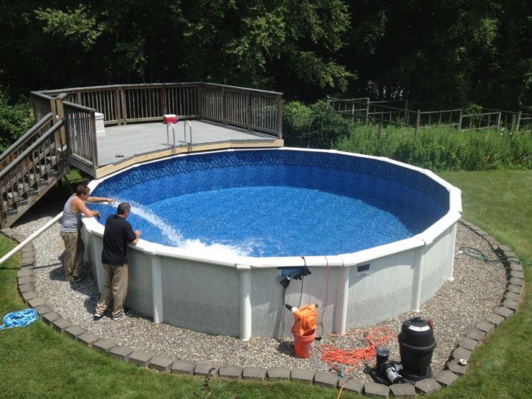 Esempio di piscine fuori terra
