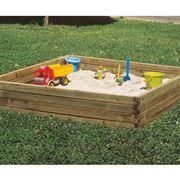 Sabbiera per bambini in legno