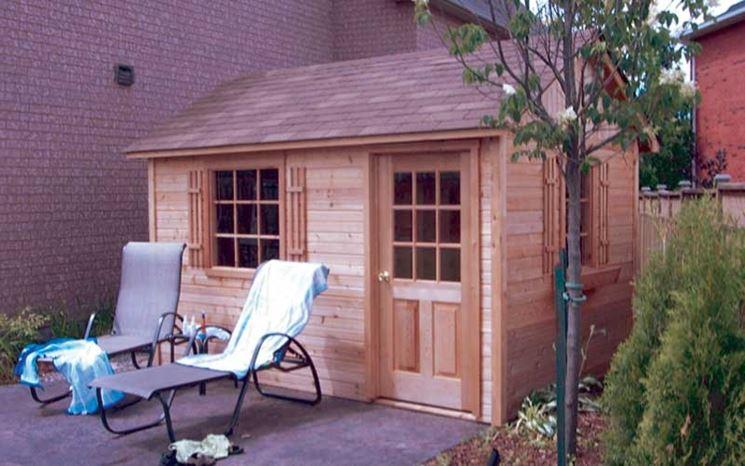 Casetta prefabbricata in legno da giardino