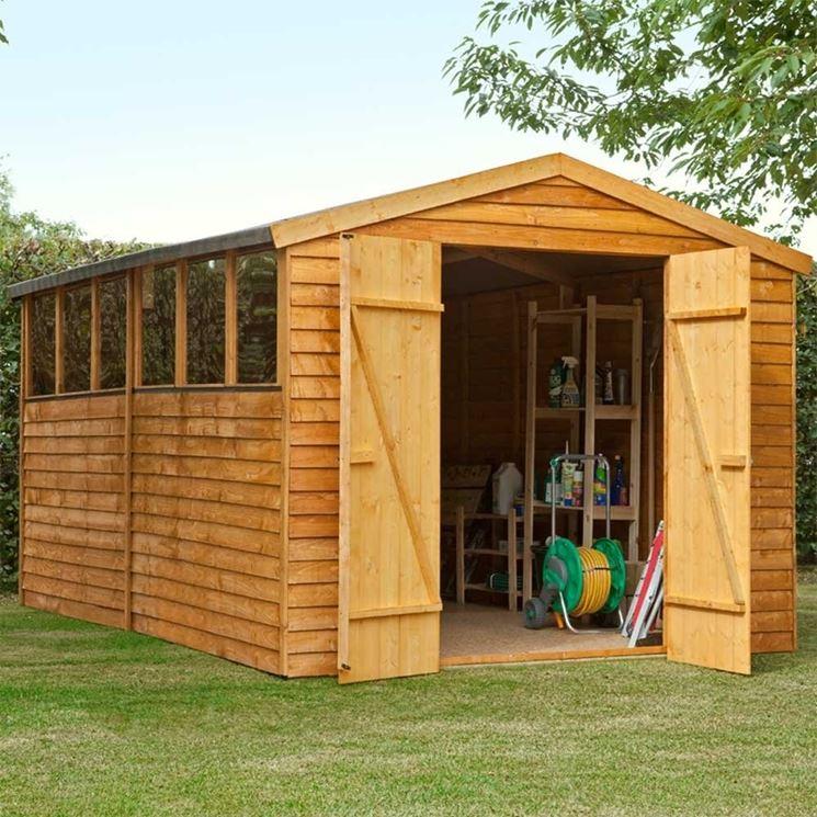 esempio di casetta in legno da giardino