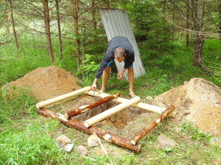 costruzione di una casetta in legno