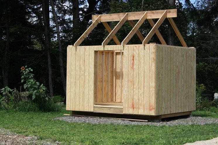 Montaggio casetta legno