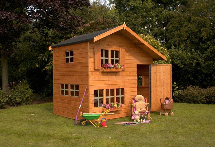 Casette Per Bambini In Legno : Casetta legno casetta bambini casetta con scivolo axi liam