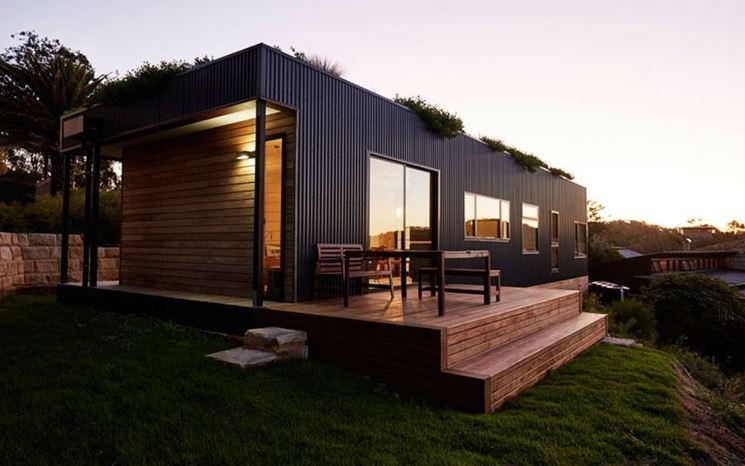 Casa prefabbricata tetto