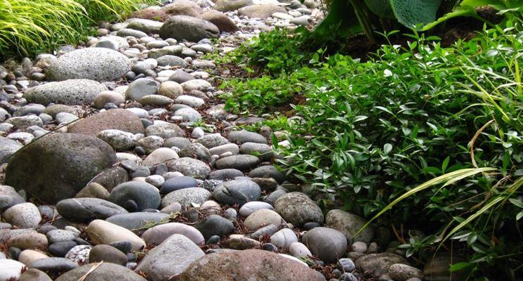 Giardino roccioso su diversi livelli