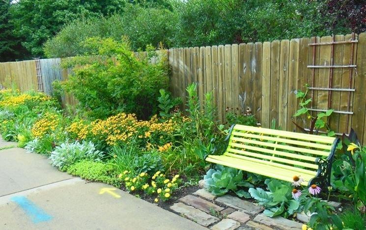 giardino realizzato con la guerrilla gardening