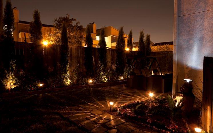 Illuminazione esterna giardino lampade da giardino luci giardino