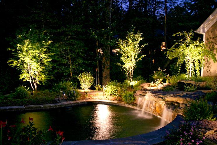 Giardino con illuminazione originale