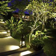 Lampade per esterni posizionate a terra