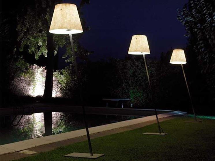 Lampada solare da giardino in stile moderno