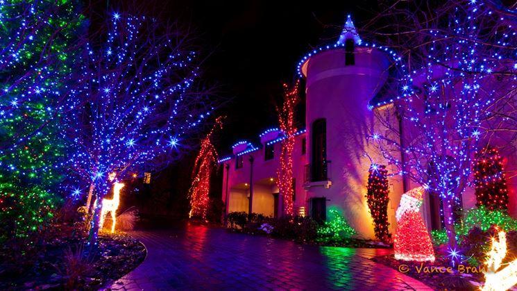 Luci di natale per esterno lampade da giardino luci natalizie