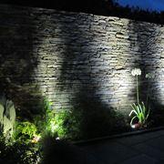 Illuminazione di un giardino con luci per esterno