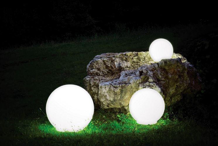 Luci per esterno lampade da giardino tipologie di luci - Luci per giardino ...