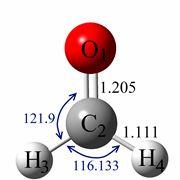 Struttura molecolare della formaldeide