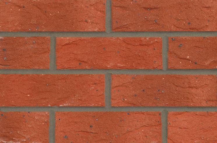 Muro di mattoni a vista