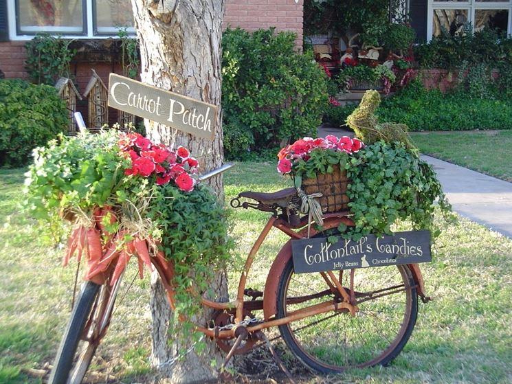 bicicletta porta fiori