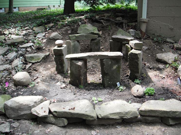 Esempio posizionamento pietre monolitiche