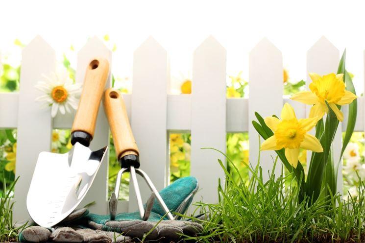 Esempio di attrezzi da giardino