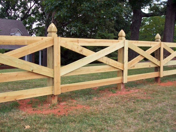 Recinzione in legno recinzioni casa materiale for Recinzione legno