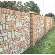 Un esempio di recinzione in muratura