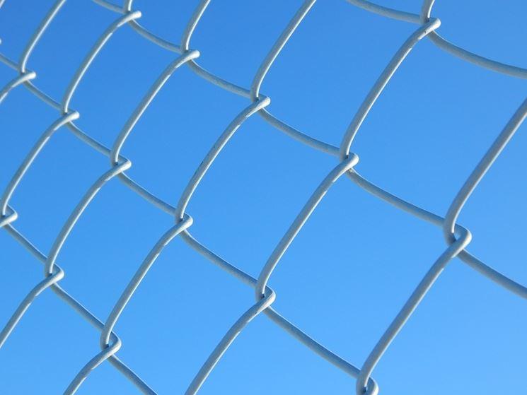 Recinzione in rete metallica