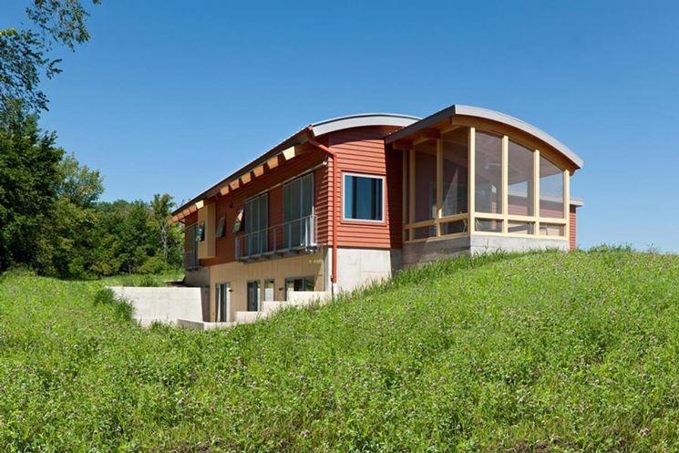 Un esempio di serra solare perfettamente integrata