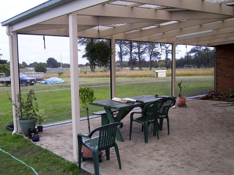 Zona esterna con tende in PVC