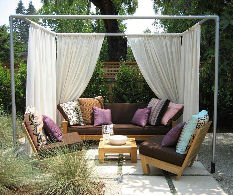 Tende in PVC per zona relax